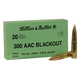 Sellier & Bellot .300 AAC Blackout FMJ Subsonic 200GR 20rds