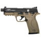 Smith and Wesson M&P22 Compact Suppressor Ready Black / FDE .22LR 3.56-inch Barrel 10 Rounds with Manual Safety
