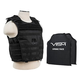 NcStar Expert Plate Carrier Vest with 10X12 Inch Soft Panels Black