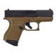 Glock 43 Gen3 Black/FDE 9mm 3.39-inch 6Rds