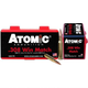 Atomic .308 Winchester Ammunition 50 Rounds 168 Grain Custom Competition Boat Tail Hollow Point 2600fps