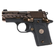 Sig Sauer P238 Engraved Rose Gold / Black .380 ACP 2.7-inch 6Rds Siglite Night Sights