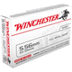 Winchester Ammunition 55 Grain Full Metal Jacket Brass 5.56 20Rds