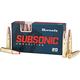 Hornady Subsonic 190 Grain Sub-X Brass .300 AAC Blackout / 7.62 X 35 20Rds