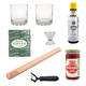 Behind The Bar Old Fashioned Cocktail Starter Kit - 2 Glasses, Ingredients & Tools