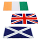 British Isles Bar Towels - Set of 3 - Includes Flags of United Kingdom, Scotland & Ireland