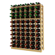 Traditional Redwood Standard Wine Rack - Holds 66 Bottles