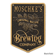 Personalized Brewing Company Plaque - Black / Gold