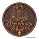 Personalized Oak Barrel Brewhouse Plaque - Antique Copper