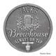 Personalized Oak Barrel Brewhouse Plaque - Pewter / Silver