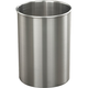 Glaro Open Top Wastebasket - Satin Aluminum - 14 Gal - 29