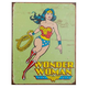 Wonder Woman Retro Metal Bar Sign