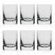 Urban Bar Etched Crystal 1910 Retro Shot Glasses - 2 oz - Set of 6
