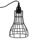 Black Hanging Cage Lamp Shade Kit