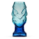Head Hunter Blue Lagoon Handcrafted Mold Blown Glass Tiki Mug - 20 oz