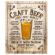 Craft Beer - Brew It With Passion Metal Bar Sign