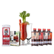 Bloody Mary Cocktail Starter Kit - 8 Pieces - Includes Glasses, Demitri's Mixes, Meat Straws & Book