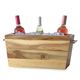 Acacia Wood Wine and Beer Bucket with Galvanized Metal Insert & Handles - 3 Gallons