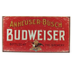 Budweiser Weathered Tin Bar Sign