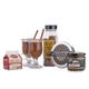 Winter Warmer Hot Beverage Sampler Set - Includes 2 Mixes, Rimming Sugar & 2 Glasses