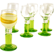 Bormioli Rocco Green Footed Limoncello Cordial Glasses - 2 oz - Set of 6