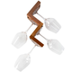 Slalom Wall Mounted Wine Glass Rack - Cherry - 4 Glass