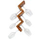 Slalom Wall Mounted Wine Glass Rack - Cherry - 6 Glass