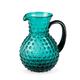 Hobnail Vintage Style Glass Pitcher - Aqua Blue - 64 oz