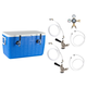 Double Faucet Jockey Box - 70' Coils - Complete Kit without CO2 Tank