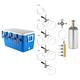 Four Faucet Jockey Box - 50' Coils - Complete Kit