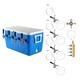 Four Faucet Jockey Box - 70' Coils - Kit W/O C02 Tank