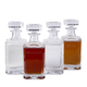 Behind The Bar® Spirit Decanter Set - Includes 4 Engraved Glass Liquor Decanters