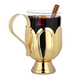 Mulled Wine & Cider Mug - Glass & Stainless Steel with Gold Finish - 12 oz