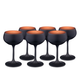 Urban Bar Oro Nero Black & Copper Coated Crystal Classic Coupe Glasses - 7.1 oz - Set of 6