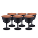 Urban Bar Oro Nero Black & Copper Coated Crystal Fizz Cocktail Glasses - 6.76 oz - Set of 6