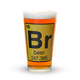 Beer Atomic Number Pint Glass - 16 oz