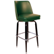 Richardson Lounger Bar Stool - Black Frame - Chrome Footrest