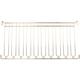 9 Channel Overhead Stemware Rack - Brass