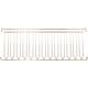 12 Channel Overhead Stemware Rack - Brass