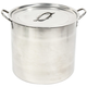 Stainless Steel Brew Kettle - 32 Quarts (8 Gallons)