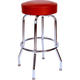 Richardson Round Top Bar Stool - Single Ring - Chrome Frame