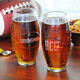 Personalized Glass Football Shaped Tumbler - 23 oz