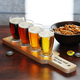 Personalized Beer Tasting Serving Paddle with 5 oz Glass Set