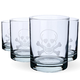 Skull & Crossbones Double Rocks Glasses - 14 oz - Set of 4