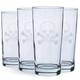 Skull & Cross Bones Cooler Glasses - 15 oz - Set of 4