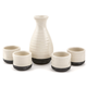 Japanese Sake Service Set - 5 Pieces - Ceramic