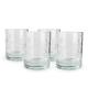 Fleur De Lis Engraved DOF Rocks Glasses - 14 oz - Set of 4