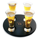Personalized Beer Flight Sampler Tray with Mini Pilsner Beer Tasting Glasses - 5 Pieces