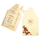 Personalized Reversible Growler Shaped Bamboo Serving Board