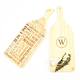 Personalized Reversible Wine Bottle Shaped Bamboo Serving Board